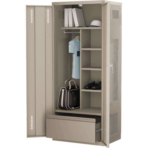 Deluxe Welded Gear Lockers - W/Lateral Drawer