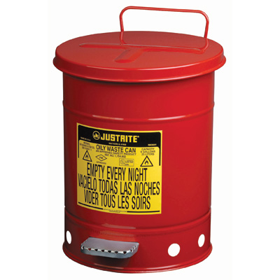 Oily Waste Cans - Red