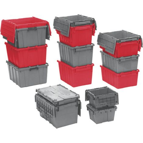 "Flipak™ Polyethylene Plastic (PE) Distribution Containers - Outside Dimensions Top: 27.9""L x 20.9""W - Case/Qty: 2"