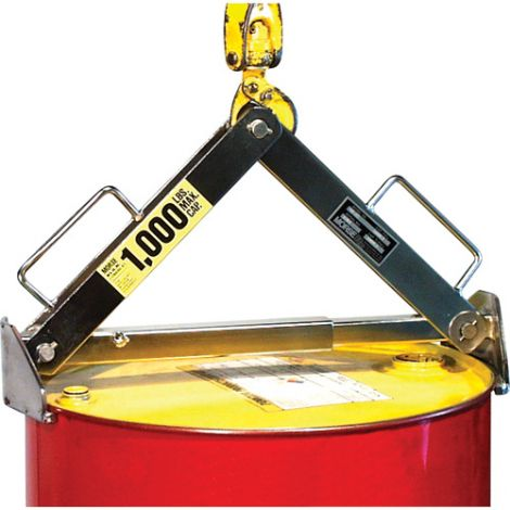 Drum/Overpack Lifter - Stainless Steel Universal Lifter - Drum Capacity: 30 - 85 US Gal. (25 - 70 Imperial Gal.)