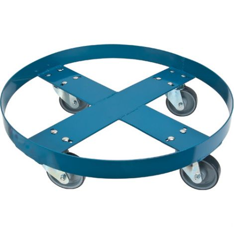 """Steel Drum Dolly - ROUND FRAME - Caster Type: Polyurethane - Caster Size: 4"""" - Height: 5 1/2"""""""
