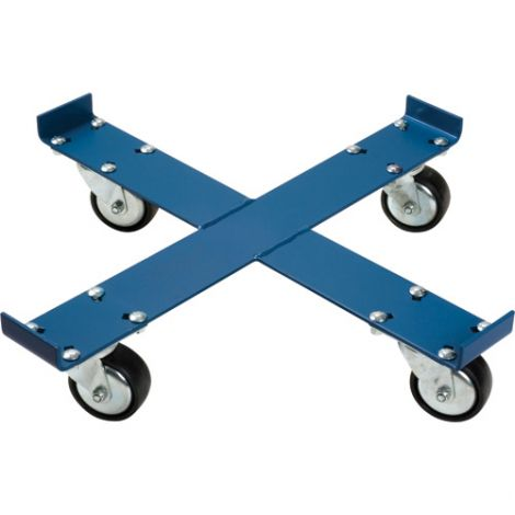 """Steel Drum Dolly - X-FRAME - Caster Type: Polyurethane - Caster Size: 4"""" - Height: 5 1/2"""""""