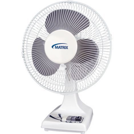 Oscillating Desk Fans with Push Buttons - Size: 12""