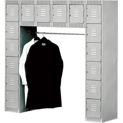 Assembled Archettes Clean Line™ Economy Lockers - No. of Tiers: 16 - Ships Free