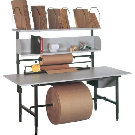 """Packaging & Shipping Station - A Series Bench - Width: 83"""" - Depth: 33"""" - Height: 60"""""""