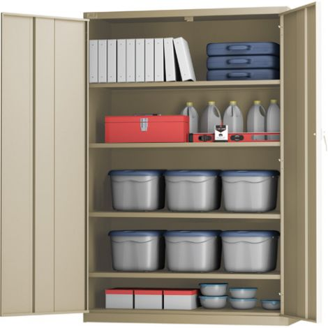 "All-Welded X-Wide Hi-Boy Storage Cabinet - 24""D x 48""W x 72""H"