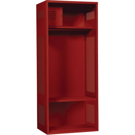 """All-Welded Gear Locker Includes Coat Bar - Colour: Red - Overall Width: 24"""" - - Ships Free"""