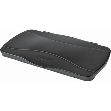 """Slim Jim® with Venting Channels - Type: Flat Lid - Fits Container Size: 21-9/10""""x 13-9/20"""" - Colour: Black"""