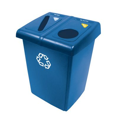 Glutton® Recycling Stations - Capacity: 46 gal./46 US Gal. - Material: Plastic - Colour: Dark Blue