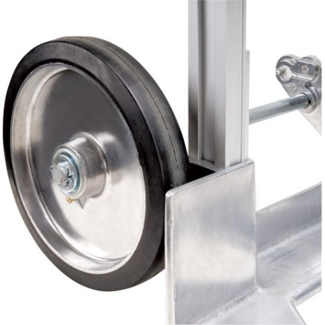 """Aluminum Hand Truck Replacement Wheel - Wheel Material: Mold on Rubber - Wheel Size: 8""""H x 2""""W"""