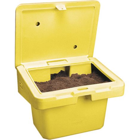 """Salt Sand Container SOS™ w/Hasp - Capacity: 18.5 cu. Ft. - Colour: Yellow - Height: 34"""""""