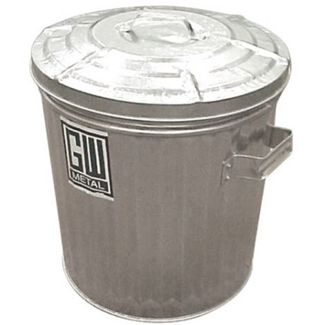 Galvanized Garbage Cans - Capacity: 20 gal/24 US.gal. - Heavy Duty