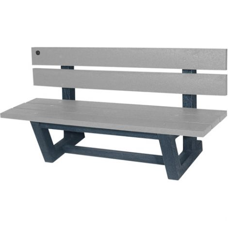"Recycled Plastic Outdoor Park Benches - Length: 72"" - Width: 23-3/16"" - Height: 29-13/16"""