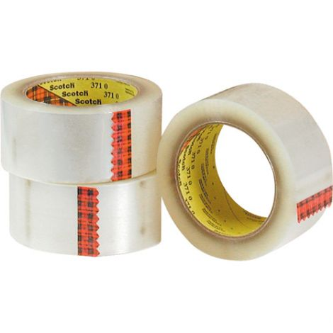 "3M™ Box Sealing Tapes - Brand: 371 - Dimensions: 48 mm x 100 m/2"" x 328' - Qty/Case: 36"