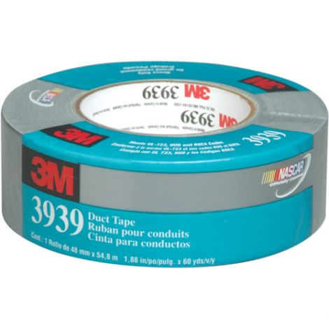 """Economy Grade Duct Tape 3939 - Colour: Silver - Thickness: 9 mils - Width: 48mm (2"""") - Length: 55 m (180') - Qty/Case: 24"""