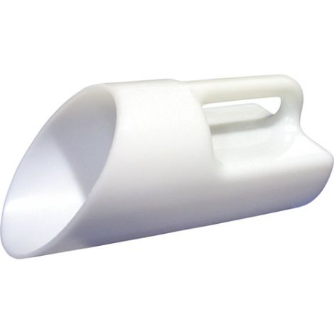 Polyethylene Salt & Sand Scoop - 1 Gallon / White