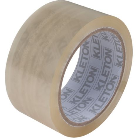 "Box Sealing Tape - Adhesive: Acrylic - Width: 48 mm (2"") - Length: 132 m (432') - Thickness: 1.6 mils - Qty/Case: 72"