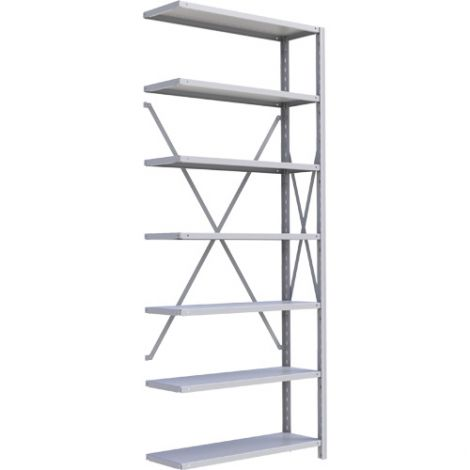 "Boltless Shelving Unit - Dimensions: 36""W x 18""D x 88""H - No. of Shelves: 7 - Kit Type: Add-On Unit"