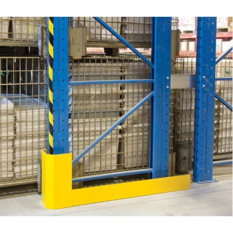 "Racking Aisle Protectors - Single Wrap - Right - Overall Dimensions: 52-1/2""L x 3""W x 12""H"
