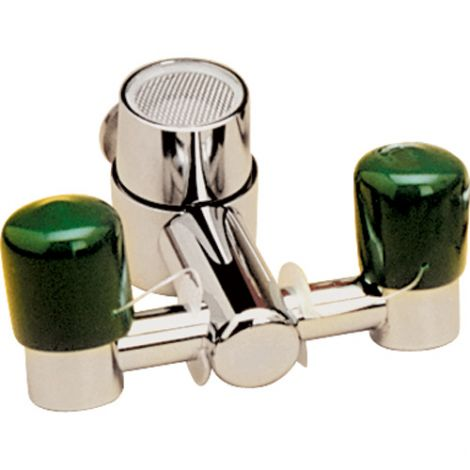 Faucet Eyewash Stations - Coverage Area: Eye - Installation Type: Faucet-Mount - Bowl Material: None
