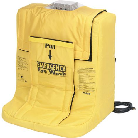 On-Site® Gravity-Fed Eyewash Station With Heater Jacket - Type: Gravity-Fed - Standard(s) Met: ANSI Z358.1 - Capacity: 7 gal.