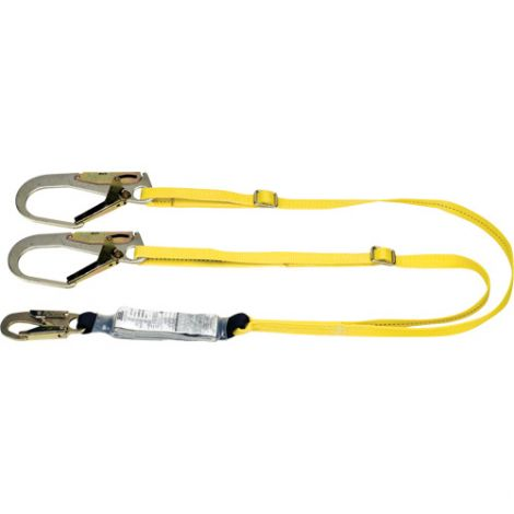 Workman™ Energy-Absorbing Lanyards -  Number of Legs: 2 - Special Features: Adjustable - Length: 6'