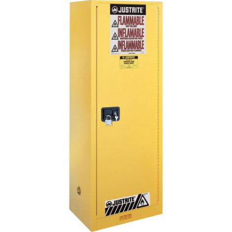 Sure-Grip® EX Slimline Flammable Safety Cabinet - Capacity: 22 gal. - Door Type: Manual