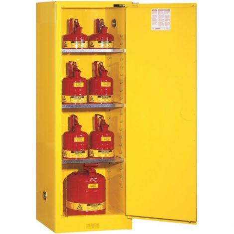 Sure-Grip® EX Slimline Flammable Safety Cabinet - Capacity: 22 gal. - Door Type: Self-Closing