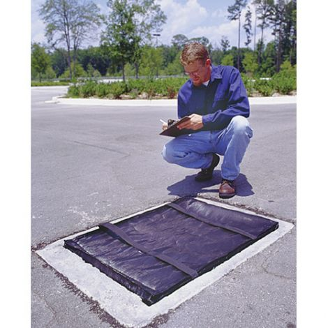 "Stormwater Grateguards Mats - Oil and Sediment - Length: 24"" - Width: 48"""