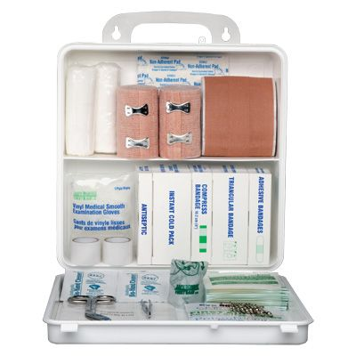 Manitoba Regulation First Aid Kits - Kit Type: 25 WORKERS - Container Type: 24-unit Plastic