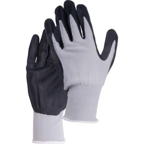 Breathable Lightweight Nitrile Foam Palm Coated Gloves - Size: Large (9) - Qty: 72 Pairs