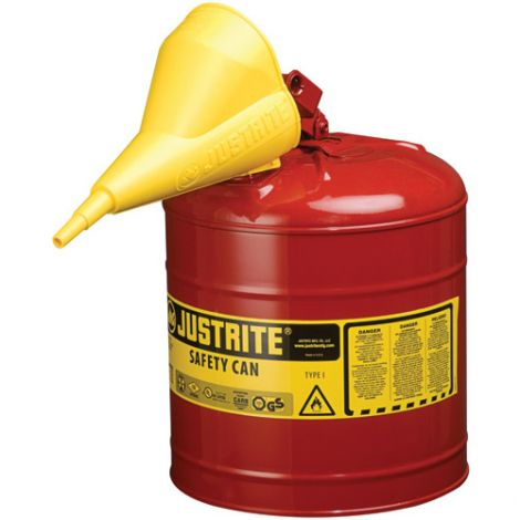 Type I Safety Can with Funnel - Capacity: 5 US gal.