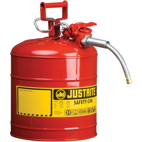 """Type II AccuFlow™ Safety Cans - Capacity: 5 US gal. - Hose Width: 1"""""""