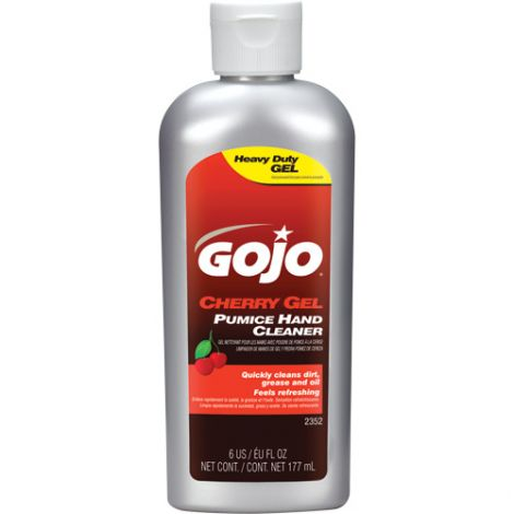 Gojo® Cherry Gel® Pumice Hand Cleaner - Type: Pumice - Container Size: 177 ml - Container Type: Bottle - Qty/Case: 36