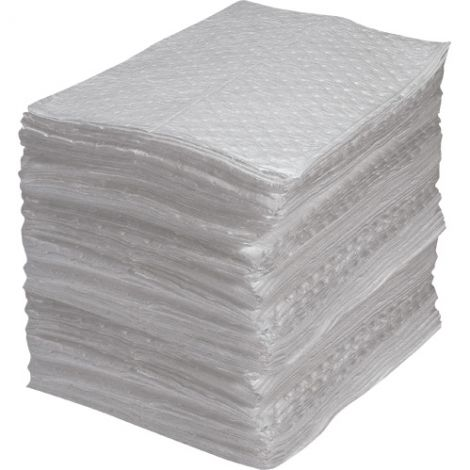 Fine Fibre Sorbent Pads - Industrial Grade - Heavy Weight - Absorbency/Pkg.: 40 Gallons