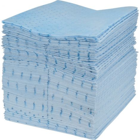 Blue Bonded Sorbent Pads - Spill Type: Oil Only - Weight: Light - Absorbency/Pkg.: 30 Gal.