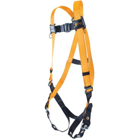 Titan™ Contractor's Harnesses - D-Ring: Back - Shoulder Connections: Tongue Buckle - Leg Connections: Mating - Chest Connections: Mating