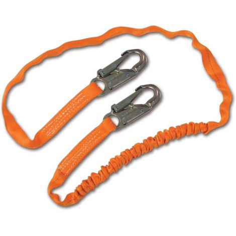 Titan™ Shock-Absorbing Lanyards - No. of Legs: 1 - Shock-Absorber Type: Tubular Built-In Core - Anchorage Connection: Snap Hook