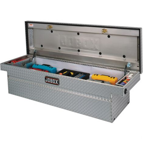 """Crossover Truck Box (Single Lid) - Colour: Silver - Overall Width: 72"""" - Overall Depth: 20-1/4"""" - Overall Height: 18-7/8"""""""