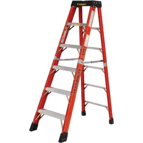 Industrial Extra Heavy-Duty Fibreglass Stepladders (6800 AA Series) - Nominal Height: 7'
