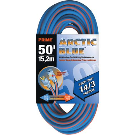 All-Weather Extension Cord - Arctic Blue™ - HEAVY-DUTY - Length: 50' - AWG: 14/3