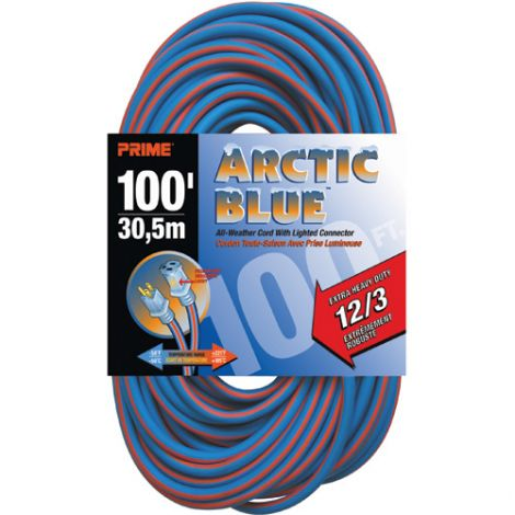 All-Weather Extension Cord - Arctic Blue™ - EXTRA HEAVY-DUTY - Length: 100' - AWG: 12/3