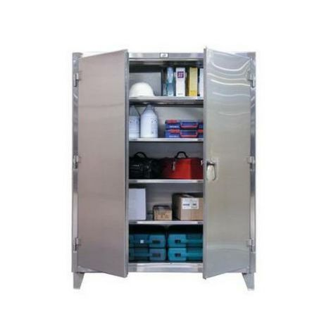"""Extra Heavy-Duty Stainless Steel Cabinet - 36""""W x 24""""D x 60""""H"""