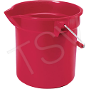 Brute® Buckets - Colour: Red - Capacity: 2.5 US Gallon (10 Quart)
