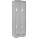Assembled Clean Line™ Economy Lockers w/Recessed Base - No. of Tiers: 2 - Bank of: 2 - Ships Free