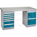 "Pre-Designed Workbench - Configuration: Door & Drawers - Height: 34"" - Width: 60"""