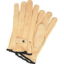 Grain Cowhide Ropers Fleece Lined Gloves - Size: Large
