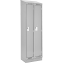 Assembled Clean Line™ Economy Lockers w/Recessed Base & Slope Top - No. of Tiers: 1 - Bank of: 2 - Ships Free