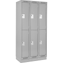 Assembled Clean Line™ Economy Lockers w/Recessed Base - No. of Tiers: 2 - Bank of: 3 - Ships Free