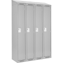 Assembled Clean Line™ Economy Lockers w/Slope Top - No. of Tiers: 1 - Bank of: 4 - Ships Free